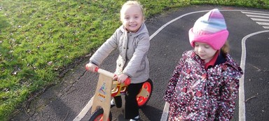 Thank you Sustrans for our wonderful new balance bikes!
